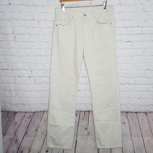 Men's Lacoste Khaki Button Fly Pants Jeans